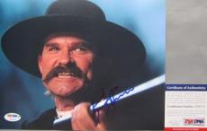 WYATT EARP!!! Kurt Russell TOMBSTONE Signed HELL'S COM'IN 8x10 Photo #2 PSA/DNA