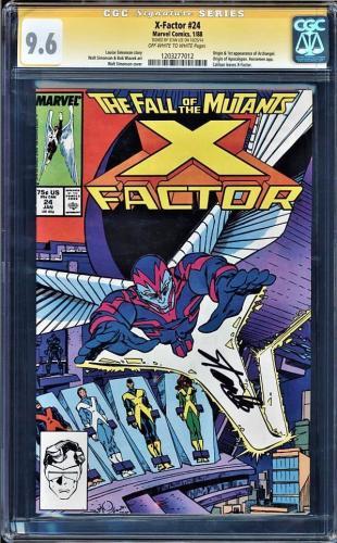 X-factor #24 Cgc 9.6 Oww Ss Stan Lee Origin & 1st App Archangel #1203277012