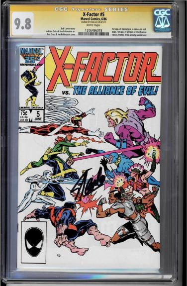 X-factor  #5 Cgc 9.8 White Ss Stan Lee Signed Highest Graded #1206496018
