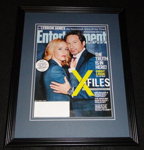X Files Framed 11x14 ORIGINAL 2015 Entertainment Weekly Cover Duchovny Anderson