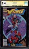 X-force #2 Cgc 9.4 White Ss Stan Lee Signed 2nd App Of Deadpool Cgc #1508460022