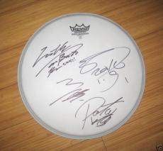 X Japan Signed Drum Head 4 Original Members  PSA Letter