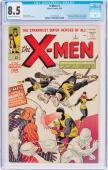 X-men #1 Cgc 8.5 Oww Pages Origin And 1st App Of The X-men #1231091002