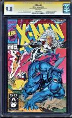X-MEN #1 CGC 9.8 WHITE PAGES SS SIGNED 2Xs STAN LEE & JIM LEE CGC #1182696019