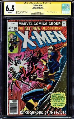 X-men #106 Cgc 6.5 White Pages Ss Stan Lee Signed Cgc #1508470019