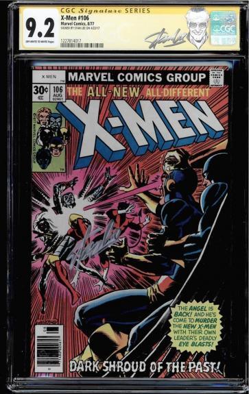 X-men #106 Cgc 9.2 Oww Ss Stan Lee Signed Cgc #1227814017