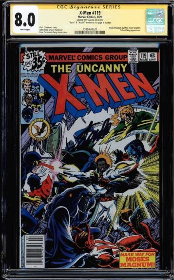 X-men #119 Cgc 8.0 W Signed 3 X's Ss Stan Lee, Byrne & Austin #1508470020
