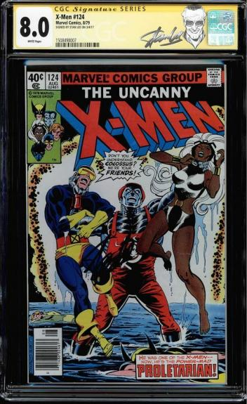 X-men #124 Cgc 8.0 White Pages Ss Stan Lee Signed New Label Cgc #1508498007