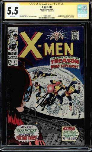 X-men #37 Cgc 5.5 White Ss Stan Lee Signed 1st App Mutant Master Cgc #1508458020