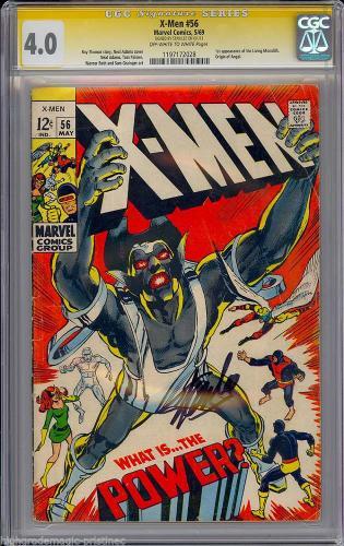 X-men #56 Cgc 4.0 Oww Ss Stan Lee 1st App Living Monolith  Cgc #1197172028