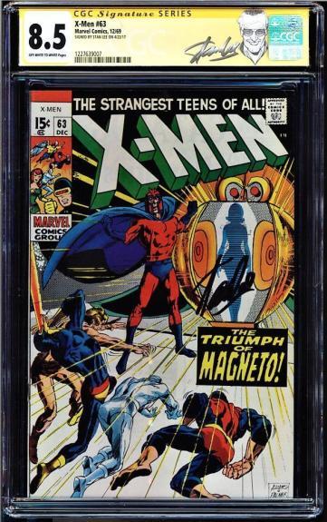 X-men #63 Cgc 8.5 Oww Ss Stan Lee 1st Appearance Of Lorelei Cgc #1227639007