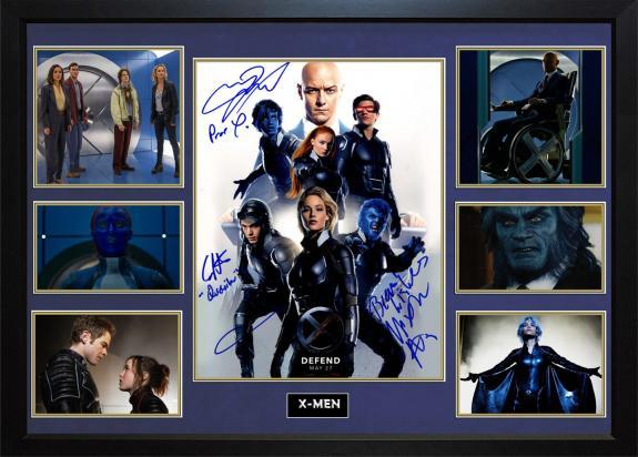 X-Men Apocalypse Signed X3 11x14 Promo Photo Display Case AFTAL UACC RD COA