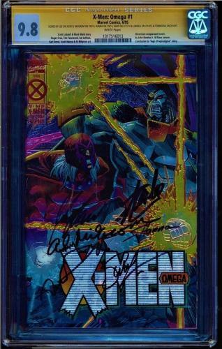 X-MEN OMEGA 1 CGC 9.8 SS 6 X's LEE, MILGROM, HANNA,WAID, LOBDELL + 1317516013