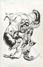 X-men Vs. Agents Of Atlas #1  Cover By Ed Mcguinness Gorilla Man Comic Art 10x13