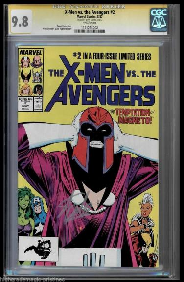 X-men Vs Avengers #2 Cgc 9.8 White Ss Stan Lee Signed Cgc #1191292002