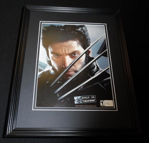X2 Hugh Jackman 2003 Wolverine's Revenge Framed 11x14 ORIGINAL Advertisement