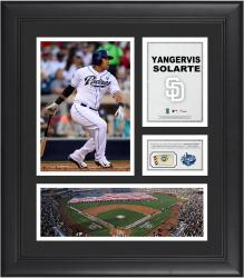 Yangervis Solarte San Diego Padres Framed 15'' x 17'' Collage with Piece of Game-Used Ball
