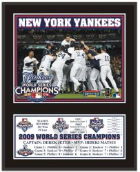 "New York Yankees 2009 World Series Champions 12"" x 15"" Photo Plaque - Mounted Memories"