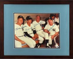 New York Yankees Multi-Signed Mantle/Martin/DiMaggio/Ford 11'' x 14'' Framed Photograph