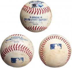 YANKEES VS PADRES GAME USED 2013 BASEBALL (MLB) - Mounted Memories