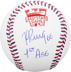 "Yasiel Puig Los Angeles Dodgers Autographed All Star Game Baseball with ""1st All Star Game"" Inscription"