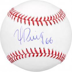 Yasiel Puig Los Angeles Dodgers Autographed Baseball