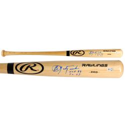 Carl Yastrzemski Boston Red Sox Autographed Rawlings Bat with TC 67 HOF 89 Inscription - Mounted Memories
