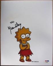 Yeardley Smith signed 8x10 photo Lisa Simpson Voice Simpsons PSA/DNA autograph