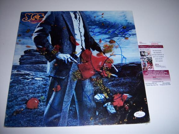 Yes Tormato 4 Sigs Jsa/coa Signed Lp Record Album