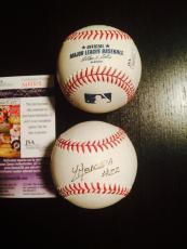 Yoan Moncada Signed Oml Baseball Boston Redsox Jsa Cert Cuba