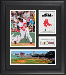 Yoenis Cespedes Boston Red Sox Framed 15'' x 17'' Collage with Piece of Game-Used Ball