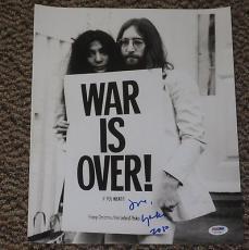 Yoko Ono John Lennon The Beatles Signed 11x14 Photo Exact Proof Psa/dna V7264