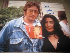 YOKO ONO SIGNED AUTOGRAPH 11x14 PHOTO BEATLES JOHN LENNON STRAWBERRY FIELD COA
