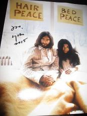 YOKO ONO SIGNED AUTOGRAPH 11x14 PHOTO BEATLES JOHN LENNON VINTAGE SHOT RR2