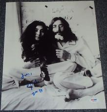 Yoko Ono Signed Autograph John Lennon Iconic Beatles 11x14 Photo Psa/dna W55723