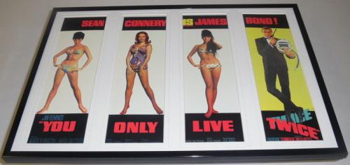 You Only Live Twice James Bond 11x17 Framed Repro Poster Set Sean Connery