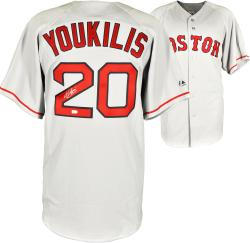 Kevin Youkilis Boston Red Sox Autographed Replica Jersey - Mounted Memories
