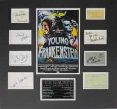 Young Frankenstein (8) Signed Matted Display- Feldman, Wilder, Brooks PSA/DNA
