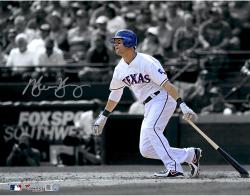 Michael Young Texas Rangers Autographed 11'' x 14'' Spotlight Photograph - Mounted Memories