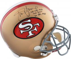 Steve Young San Francisco 49ers Autographed Riddell Replica Helmet with Multiple Inscriptions - Mounted Memories