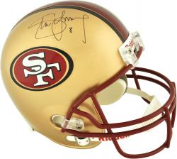 Steve Young San Francisco 49ers Autographed Riddell Replica Old Logo Helmet - Mounted Memories