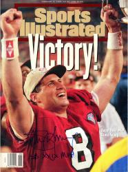 Steve Young San Francisco 49ers Autographed Sports Illustrated Victory Magazine - Mounted Memories