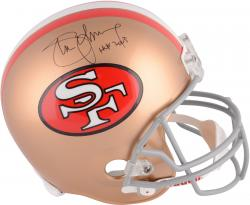 Steve Young San Francisco 49ers Autographed Riddell Replica Helmet with HOF 05 Inscription