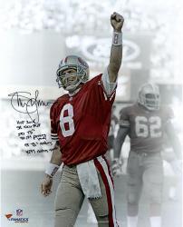 "Steve Young San Francisco 49ers Autographed 16"" x 20"" Image"