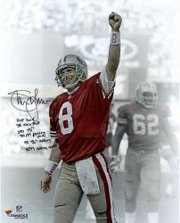 "Steve Young San Francisco 49ers Autographed 16"" x 20"" Image"