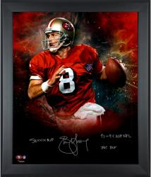 "Steve Young San Francisco 49ers Framed Autographed 20"" x 24"" Photograph -"