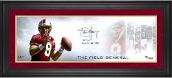 Steve Young San Francisco 49ers Framed Autographed 10'' x 30'' Field General Photograph with Multiple Inscriptions-#24 of a Limited Edition of 24 - Mounted Memories