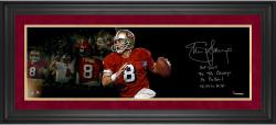 Steve Young San Francisco 49ers Framed Autographed 10'' x 30'' Film Strip Photograph with Multiple Inscriptions-#2-23 of a Limited Edition of 24 - Mounted Memories