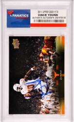 Vince Young Texas Longhorns Autographed 2011 Upper Deck #74 Card