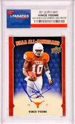 Vince Young Texas Longhorns Autographed 2011 Upper Deck #AAVY Card